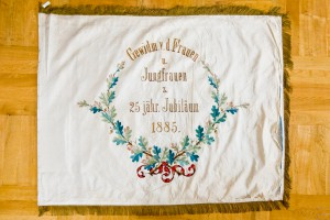Vereinsfahne von 1885 - Rückseite